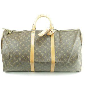 Louis Vuitton Monogram Keepall 60 Boston Duffle